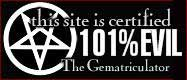This site is certified 99% EVIL by Nigel Tufnel