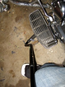 You can also use the cane to pull up the kickstand