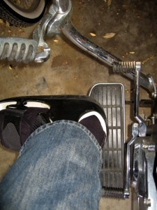 Heel & toe shifters?  Nah, just the heel -- for up <i>and</i> downshifting